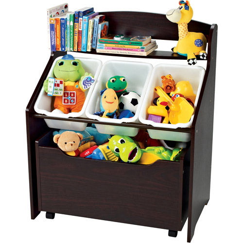 tot tutors 3 tier storage unit with rollout toy box ebay. Black Bedroom Furniture Sets. Home Design Ideas