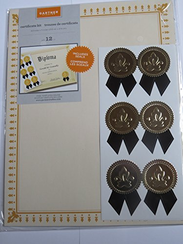 Gartner studios blank certificate kit with seals for Gartner labels templates