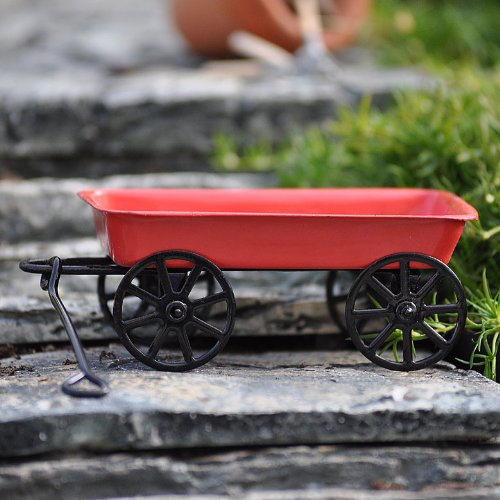 This Little Red Toy Wagon is a small version of the original wagon you loved as a kid. Featuring a seamless steel body, working handle with solid grip and durable rolling wheels for lasting quality, this toy wagon is perfect for stuffed animals & toys, or for using as a gift basket or home décor. For ages 3+.Reviews:
