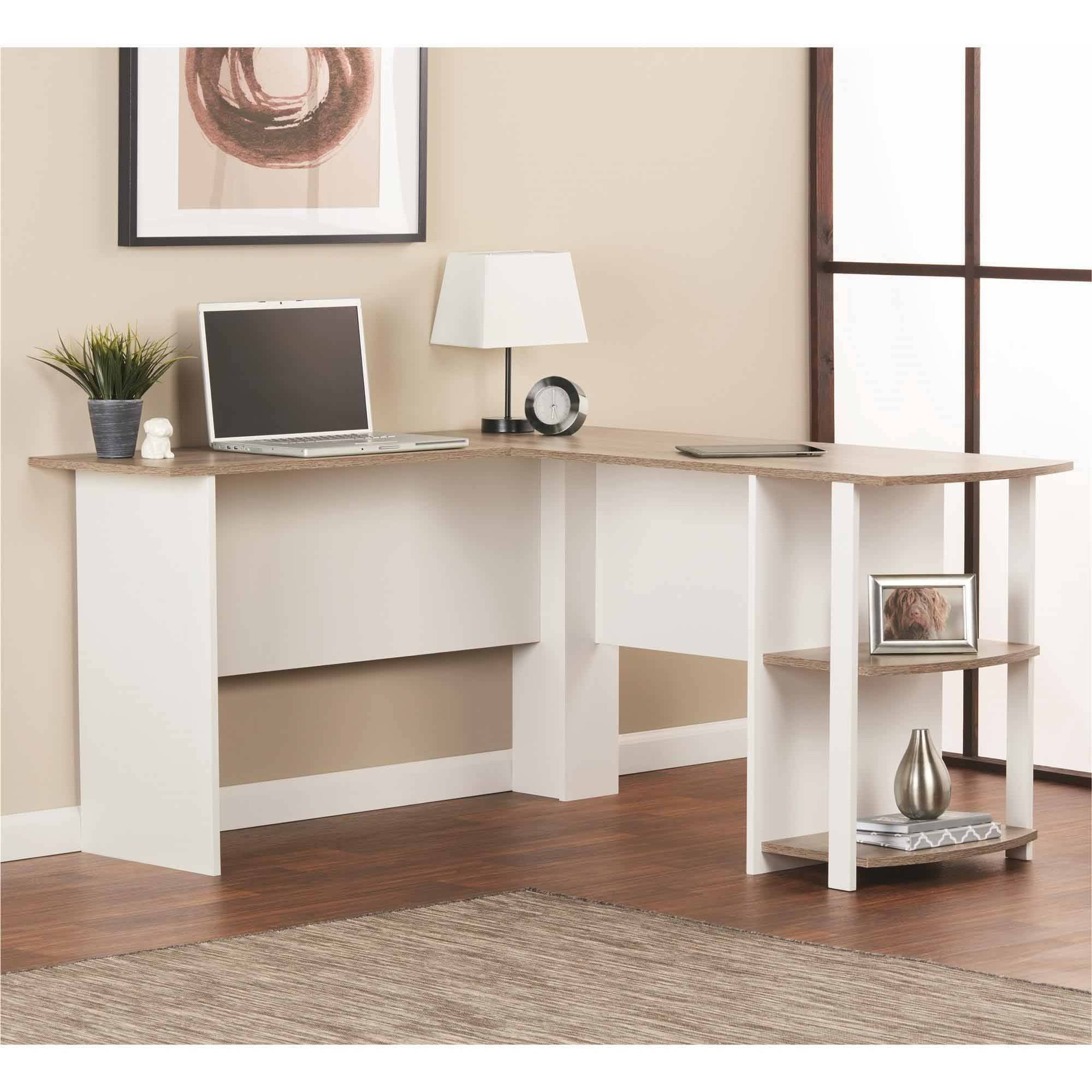 L Shaped Desk With Side Storage Multiple Finishes