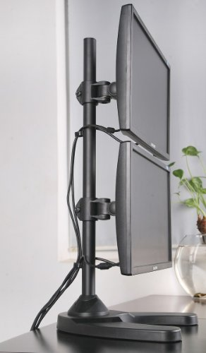 Dual Lcd Monitor Desk Stand Mount Free Standing With