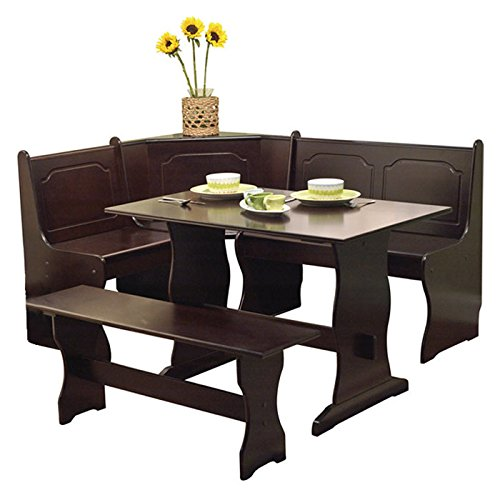 tms 3 piece nook dining set espresso. Black Bedroom Furniture Sets. Home Design Ideas