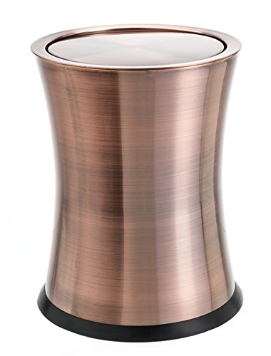 Bennett swivel a lid small trash can stainless steel - Small trash can with lid ...