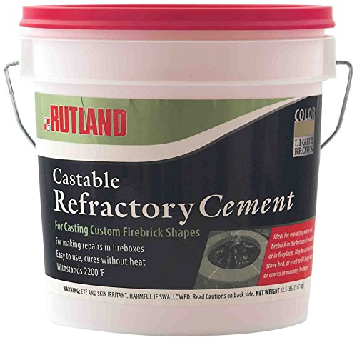 Fire Mortar Mix : Rutland lbs tub castable cement mix with water