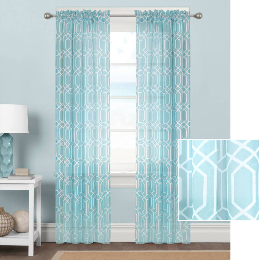 Better Homes And Gardens Kitchen Curtains: Better Homes And Gardens Geometrics Sheer Curtain Panel