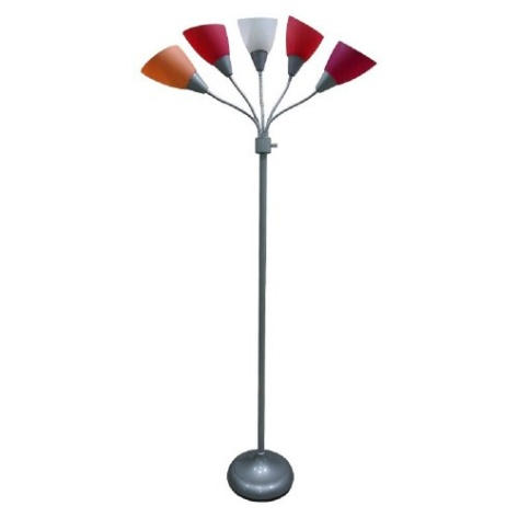Room Essentials Pink Floor Lamp With Multiple Heads And Adjustabl
