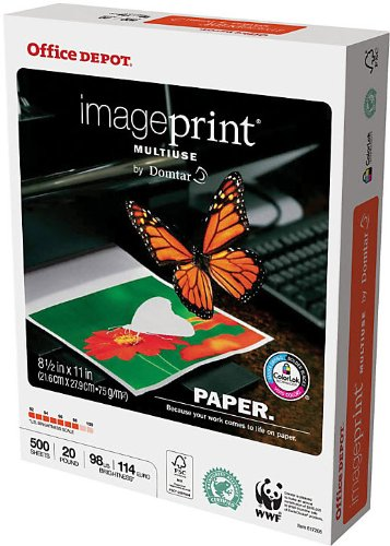 Office Depot Letter Size Imageprint Multiuse Office Paper
