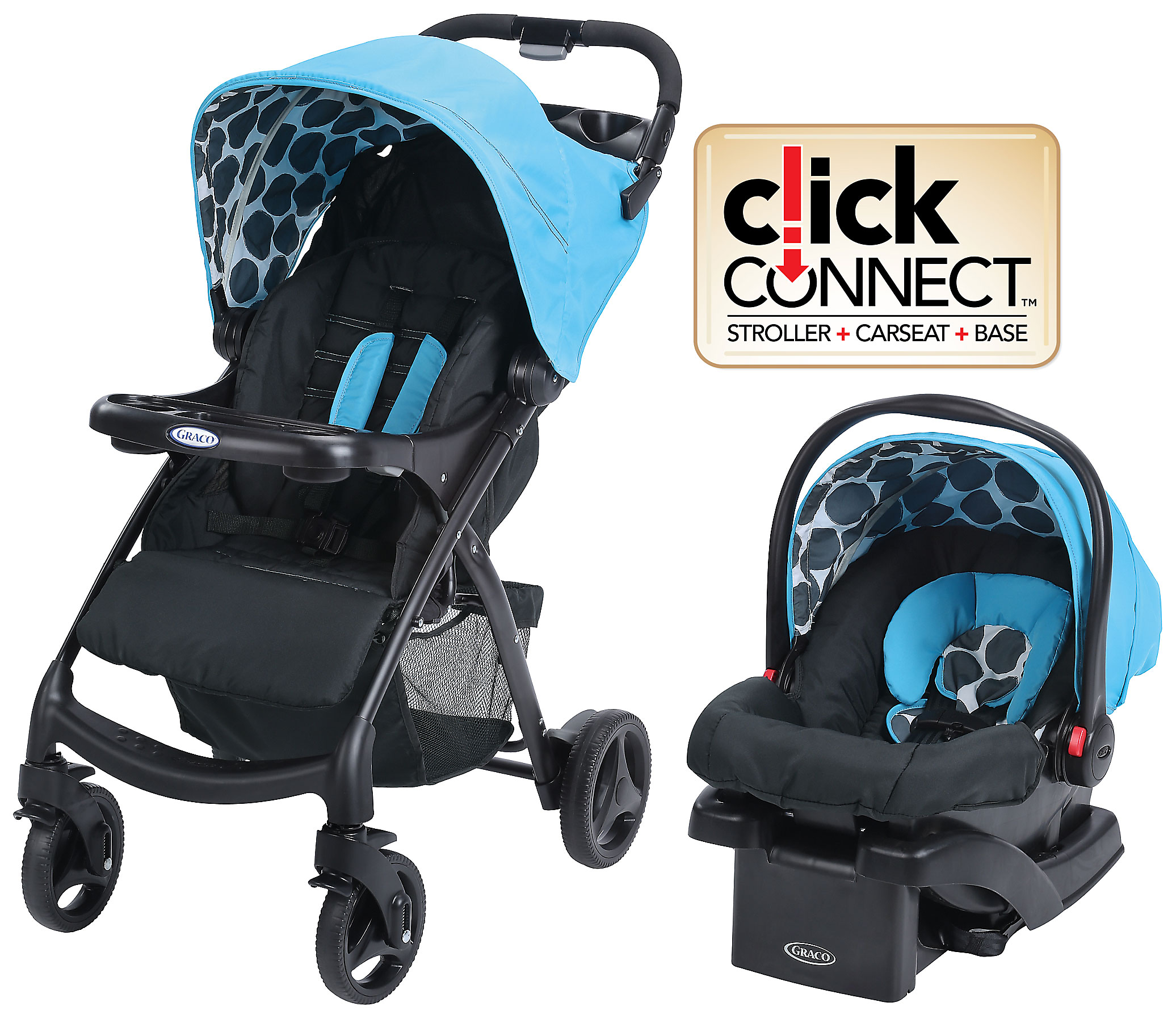 how to install a graco click connect car seat base