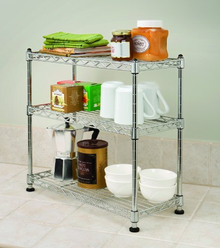 Seville Classics 3 Shelf Cabinet Organizer 17 5 By 7 5 By