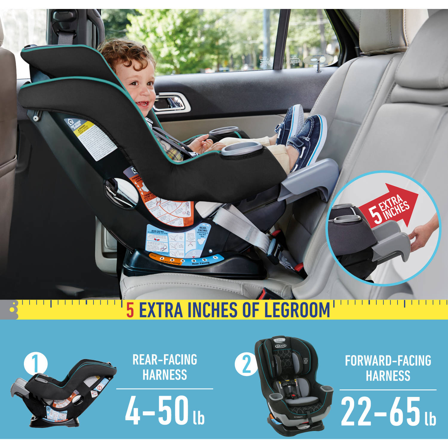 Graco Extend2Fit Convertible Car Seat Choose Your Pattern