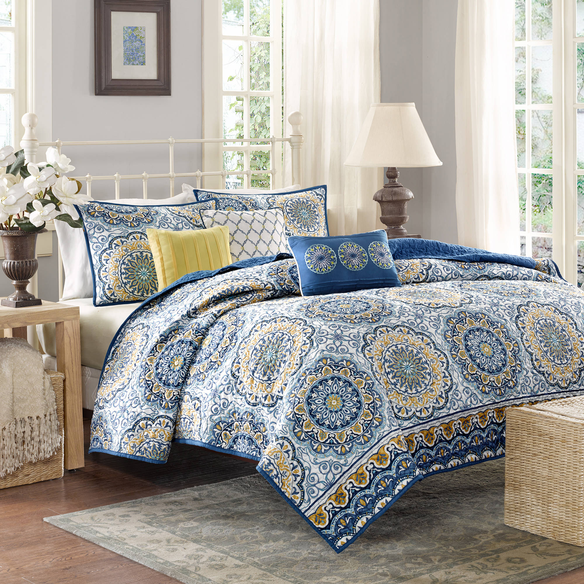 Home Essence Menara Quilted Bedding Coverlet Set | eBay : king size quilt bedding - Adamdwight.com