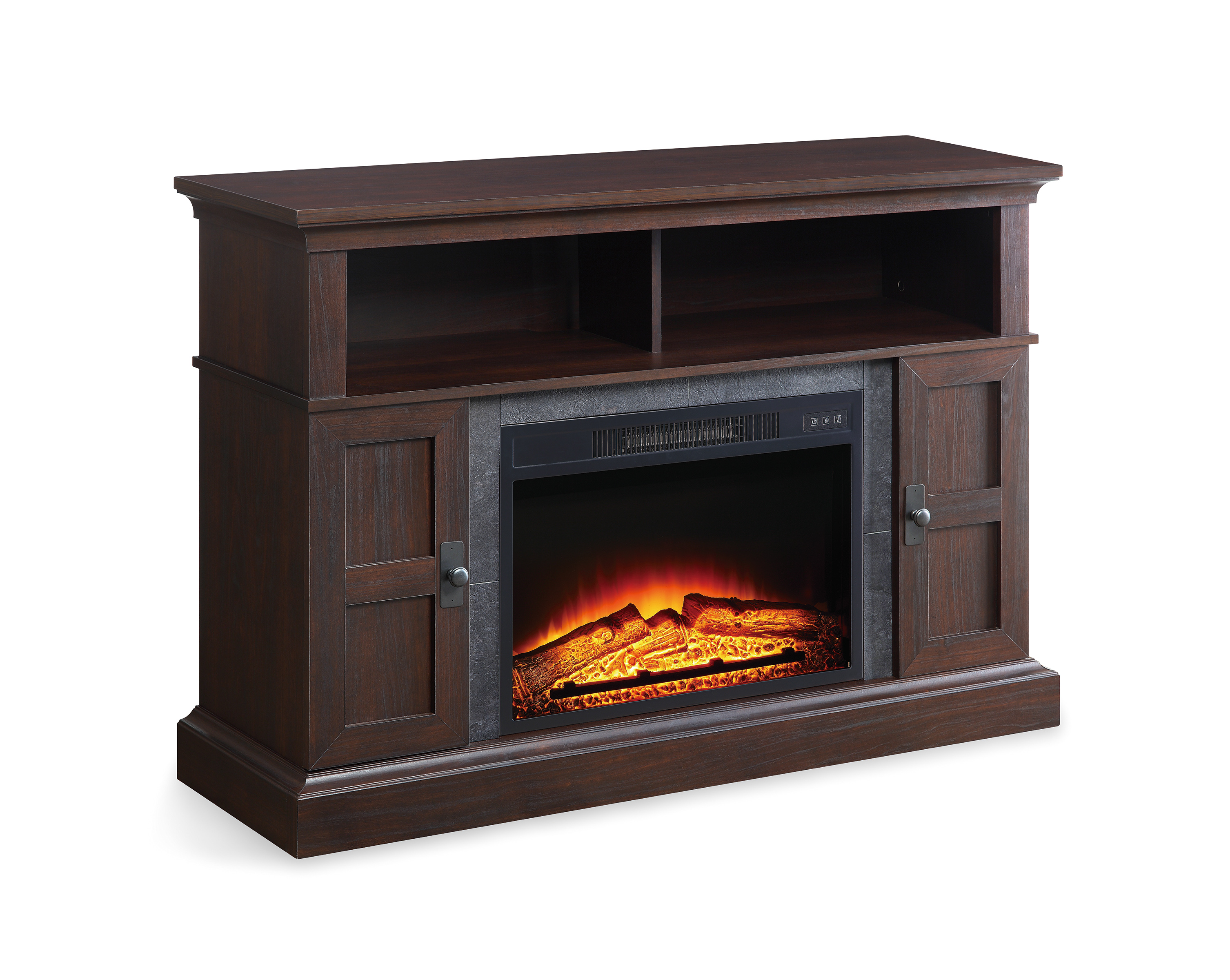 "Whalen Media Fireplace Console for TVs up to 55"", Dark ..."