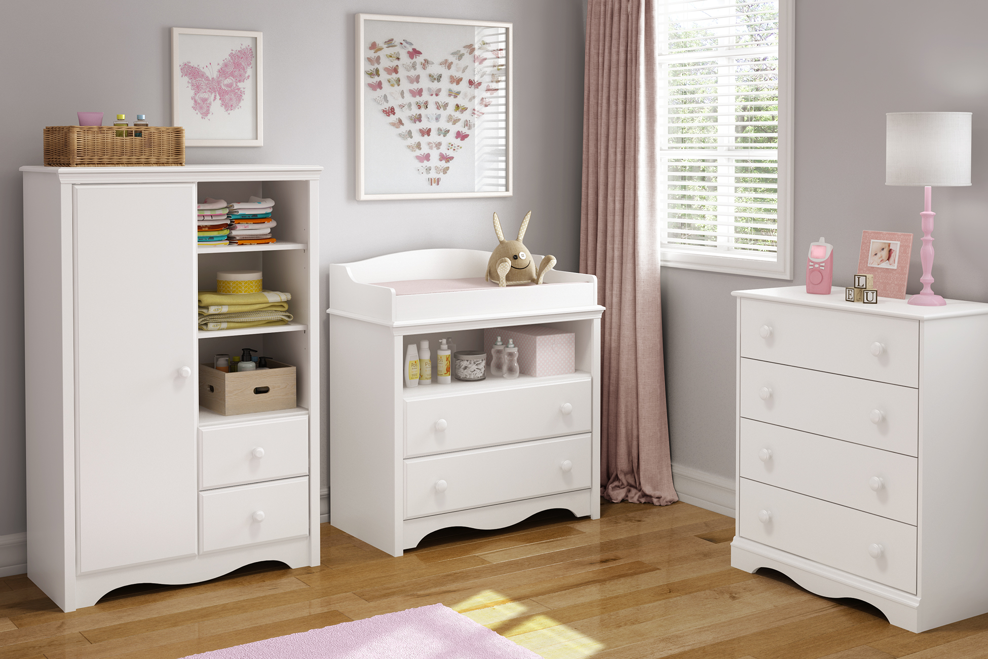 Perfect South Shore Angel Changing Table With Drawers Multiple