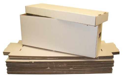 5 long collectible comic book cardboard storage boxes for. Black Bedroom Furniture Sets. Home Design Ideas