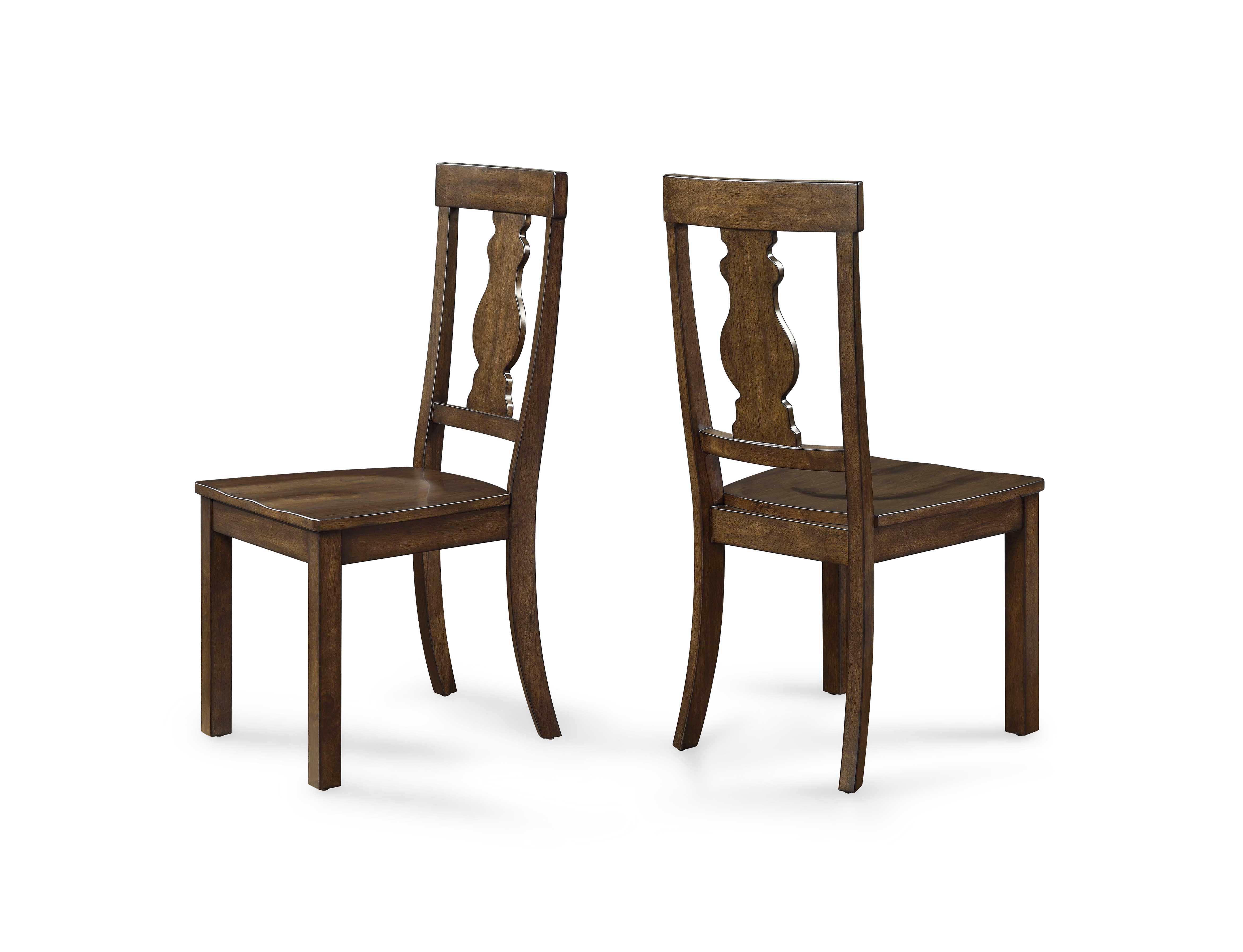 Better Homes and Gardens Providence Wood Dining Chair Brown Set