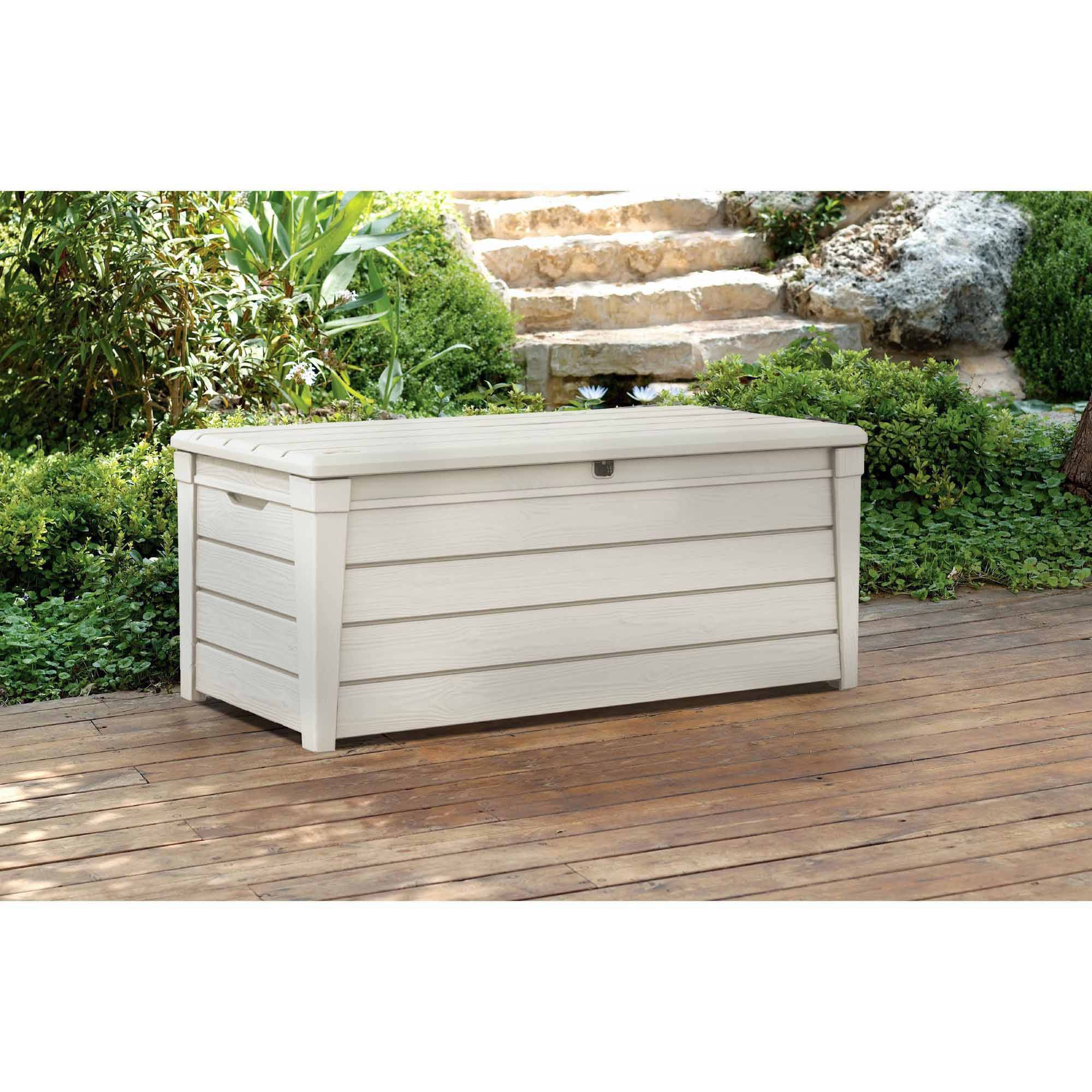 Keter Brightwood Outdoor Plastic Deck Storage Container