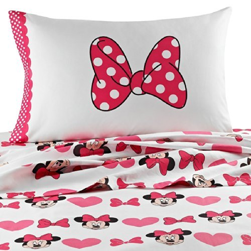 Minnie Mouse Cute Bows Full Size Sheets Set