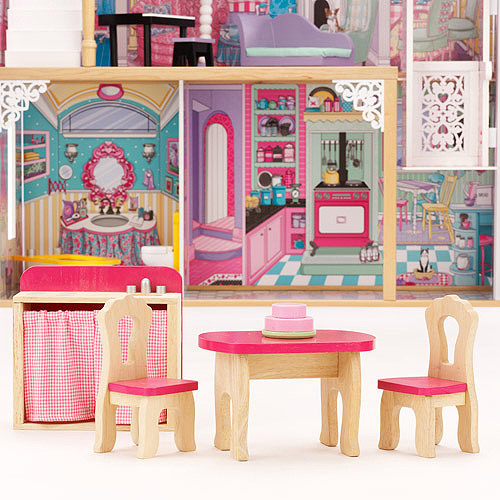 Kidkraft Annabelle Wooden Dollhouse With 16 Pieces Of Furniture Ebay
