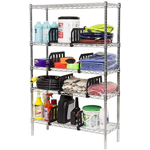 akro mils 45612 plastic shelf divider for 12 inch deep wire and s. Black Bedroom Furniture Sets. Home Design Ideas