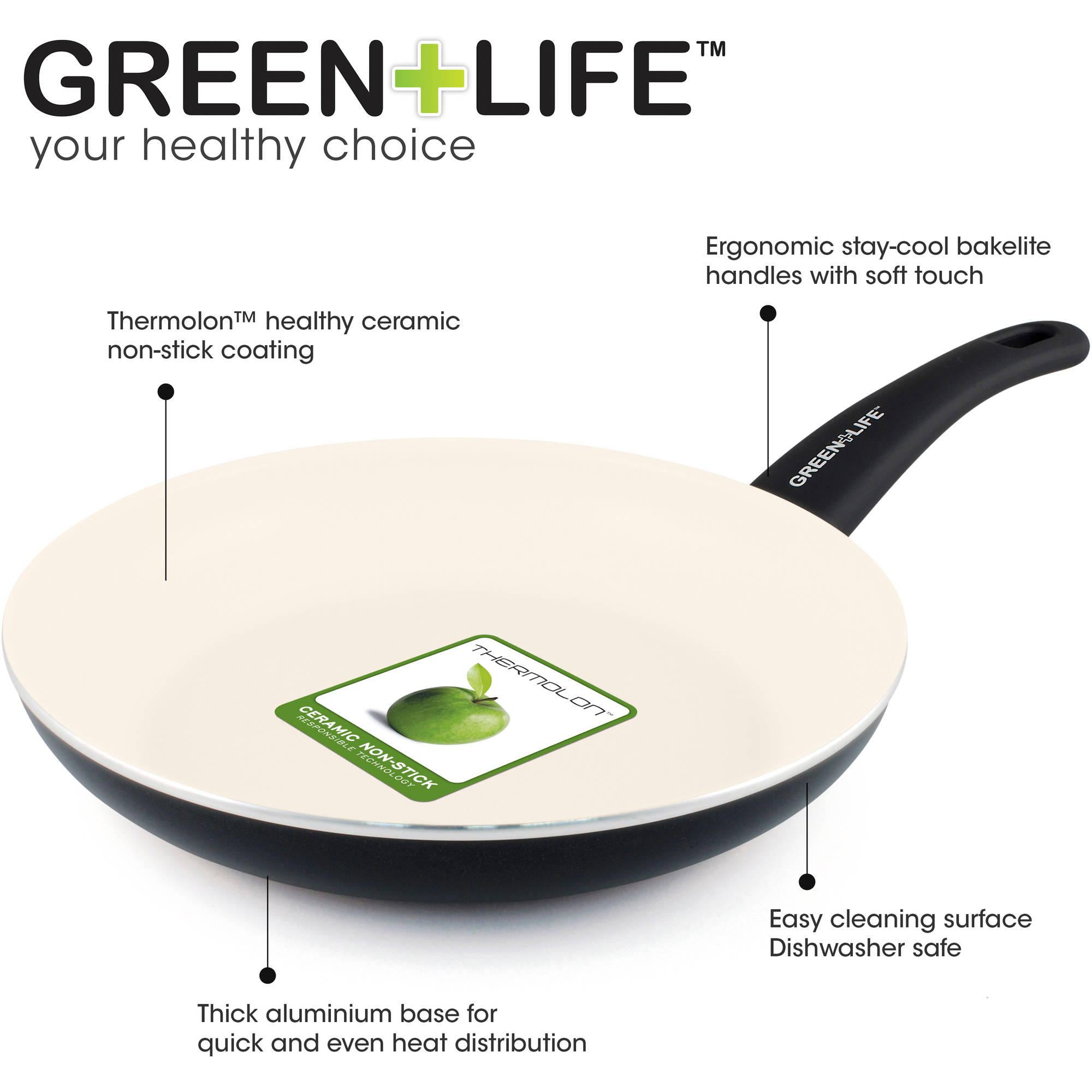 O Shopping Ilo Kitchen Set: GreenLife Healthy Ceramic Non-Stick 14-Piece Soft Grip