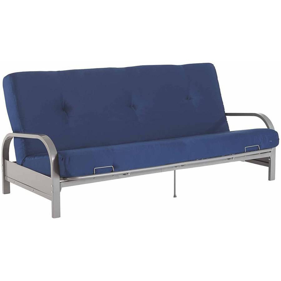 mainstays silver metal arm futon frame with full size