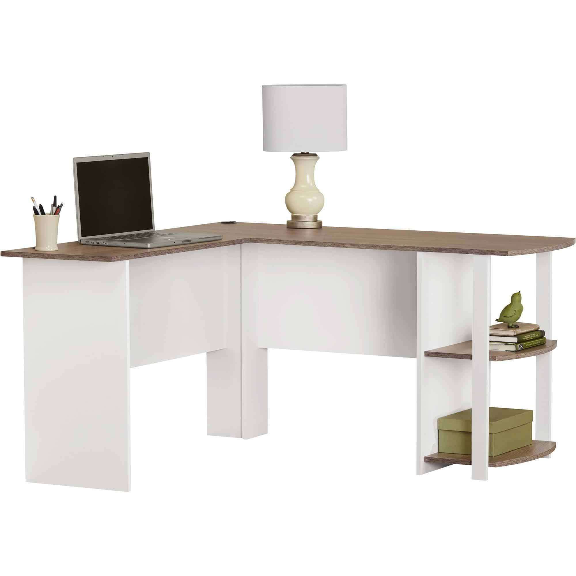 Incroyable L Shaped Desk With Side Storage Multiple Finishes