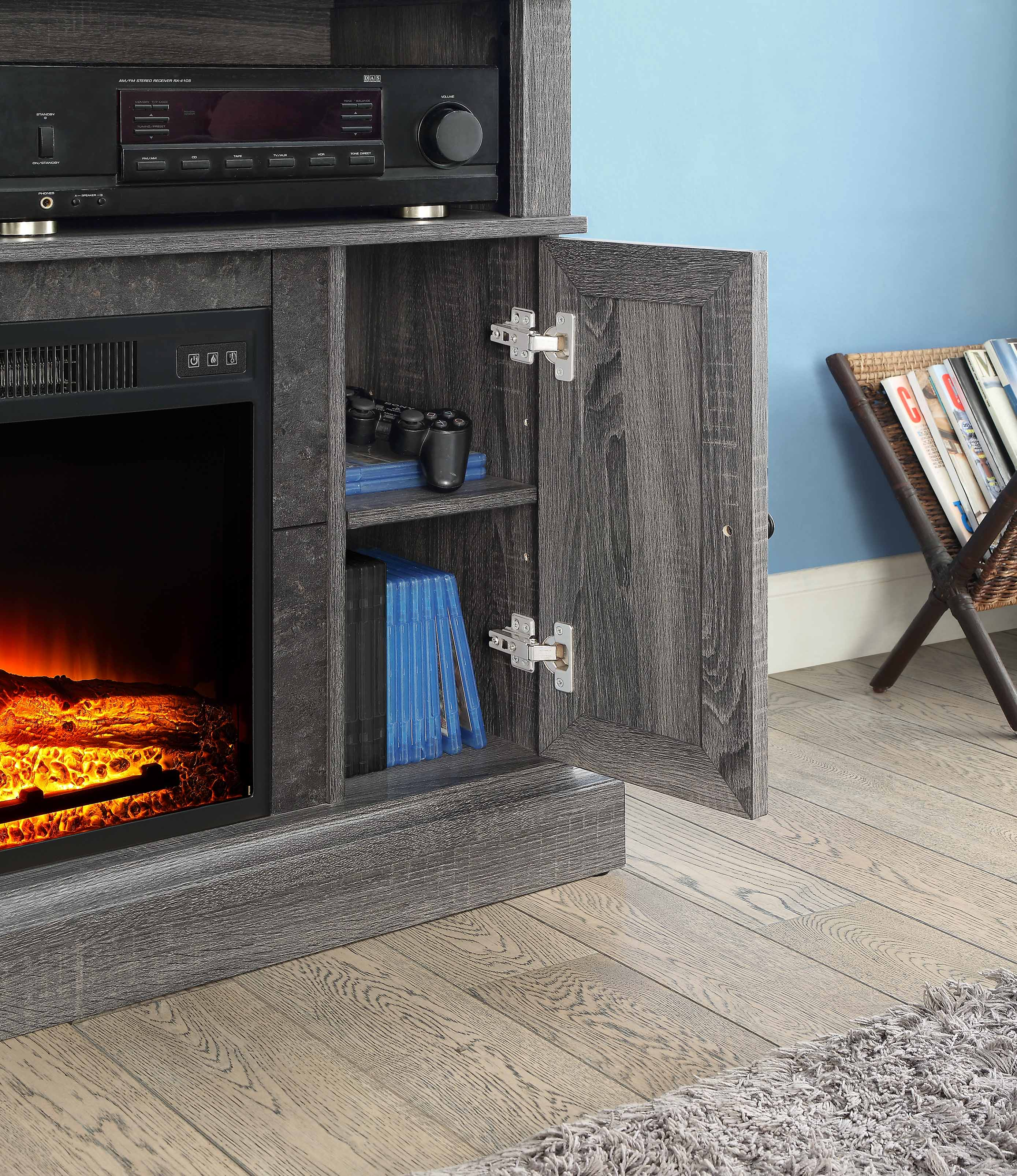 Whalen Media Fireplace Console For Tvs Up To 55 Dark Cherry Ebay