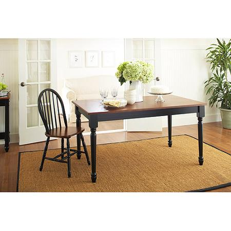 Better Homes and Gardens Autumn Lane Farmhouse Dining Table Black