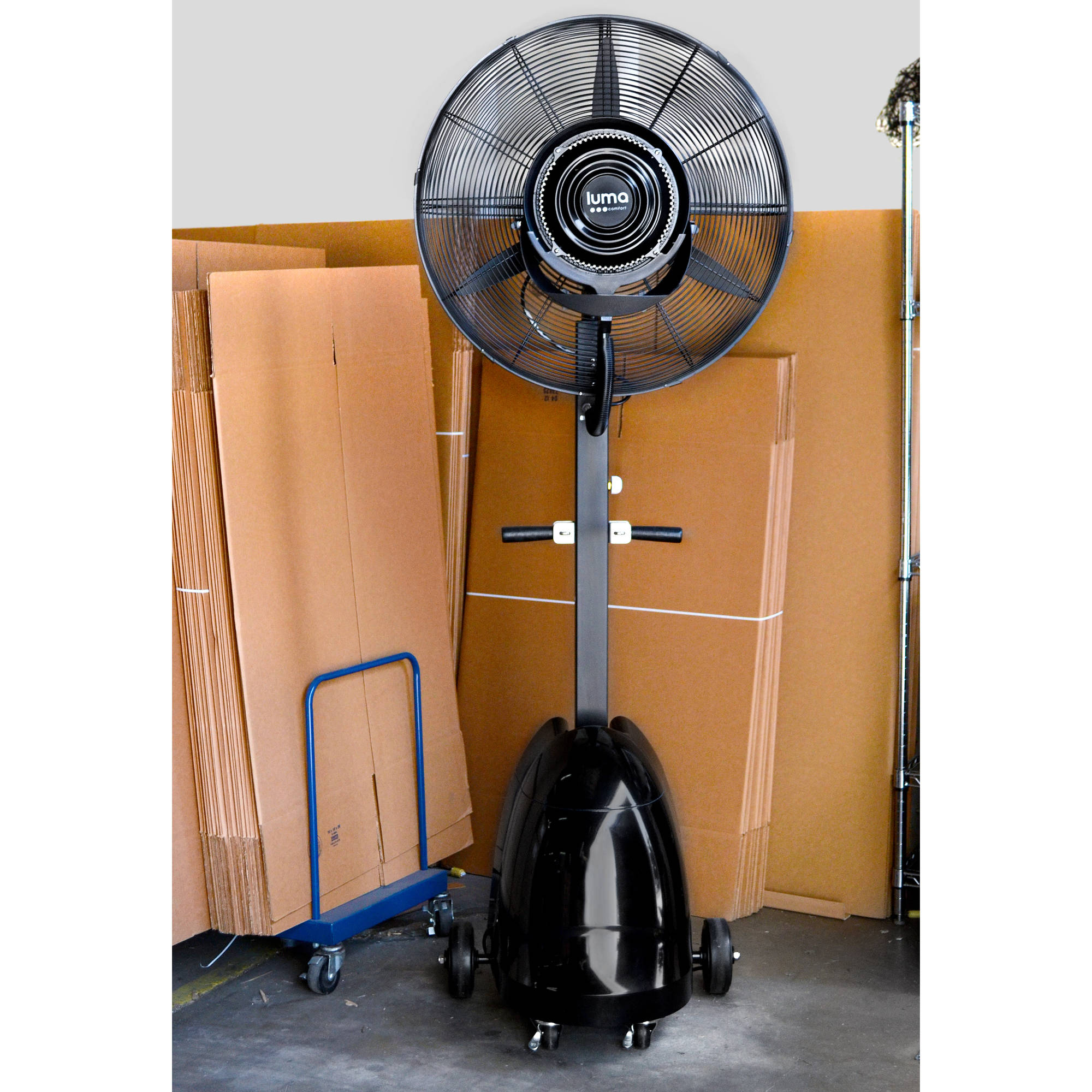 Industrial Misting Fans : Commercial quot high velocity outdoor misting fan black