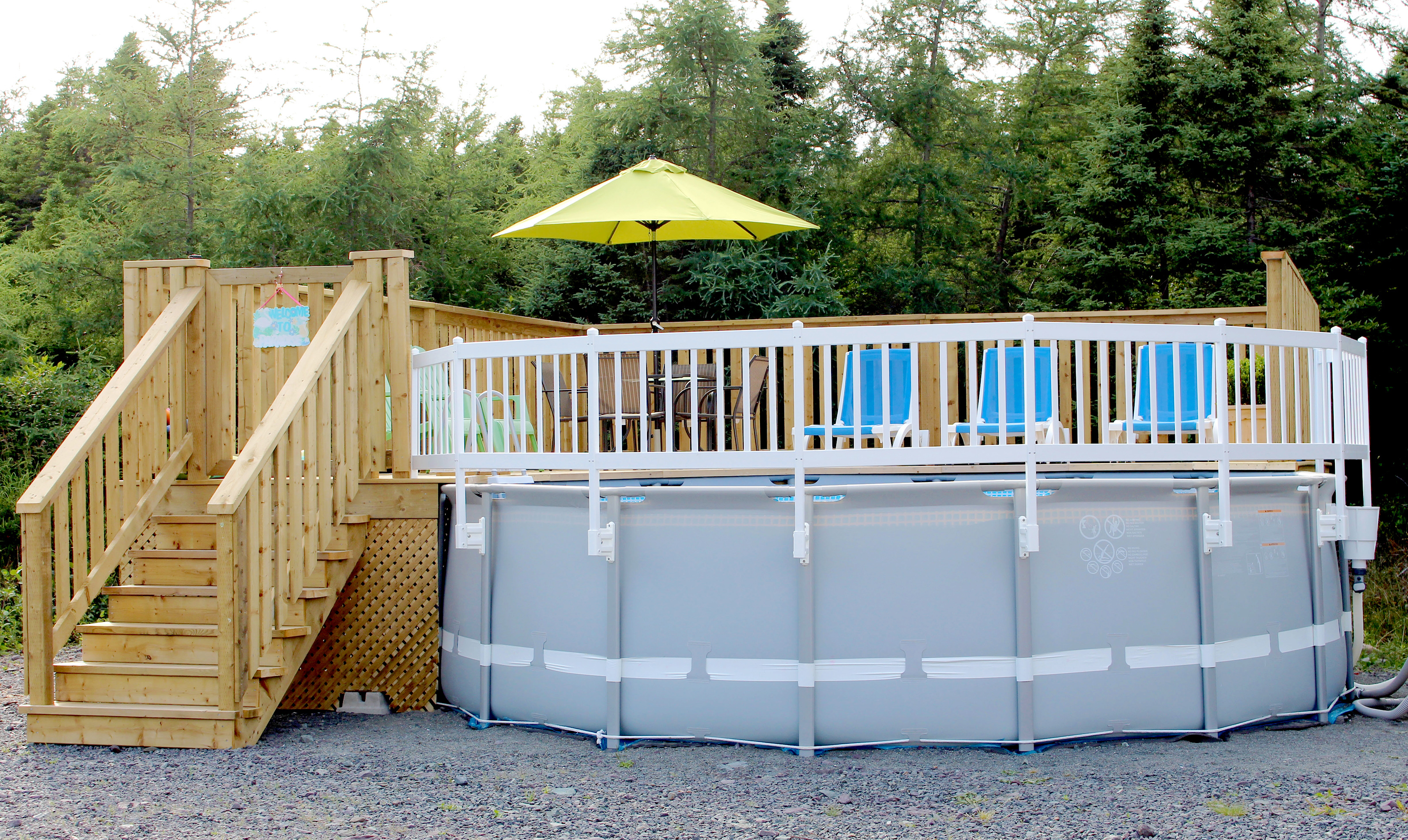 Vinyl Works Above Ground Pool Fence Kit Taupe Ebay