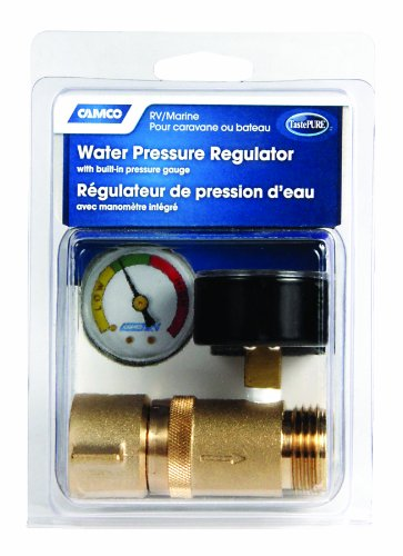 camco 40064 brass water pressure regulator with gauge. Black Bedroom Furniture Sets. Home Design Ideas