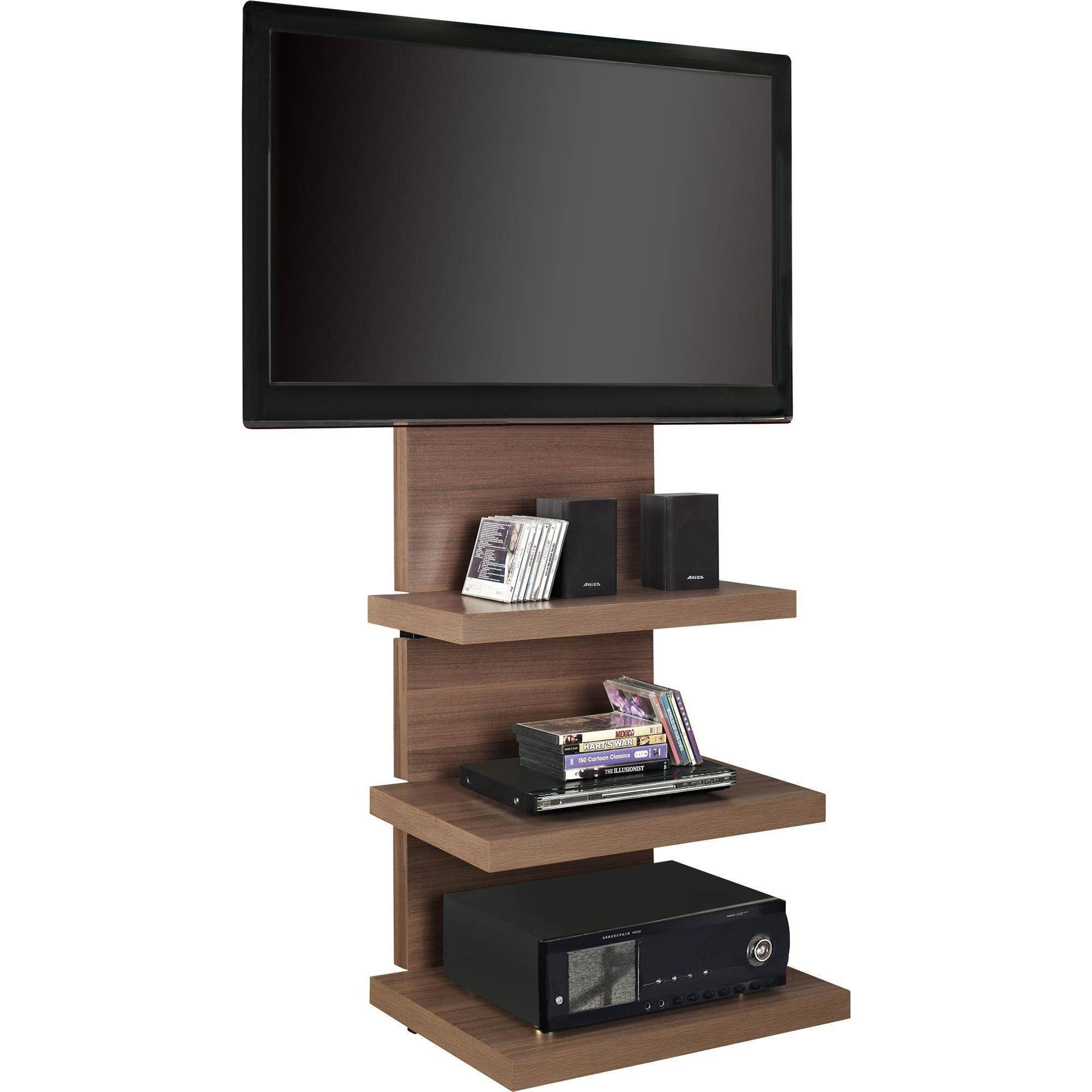 altra wall mount tv stand with 3 shelves for tvs up to 60. Black Bedroom Furniture Sets. Home Design Ideas