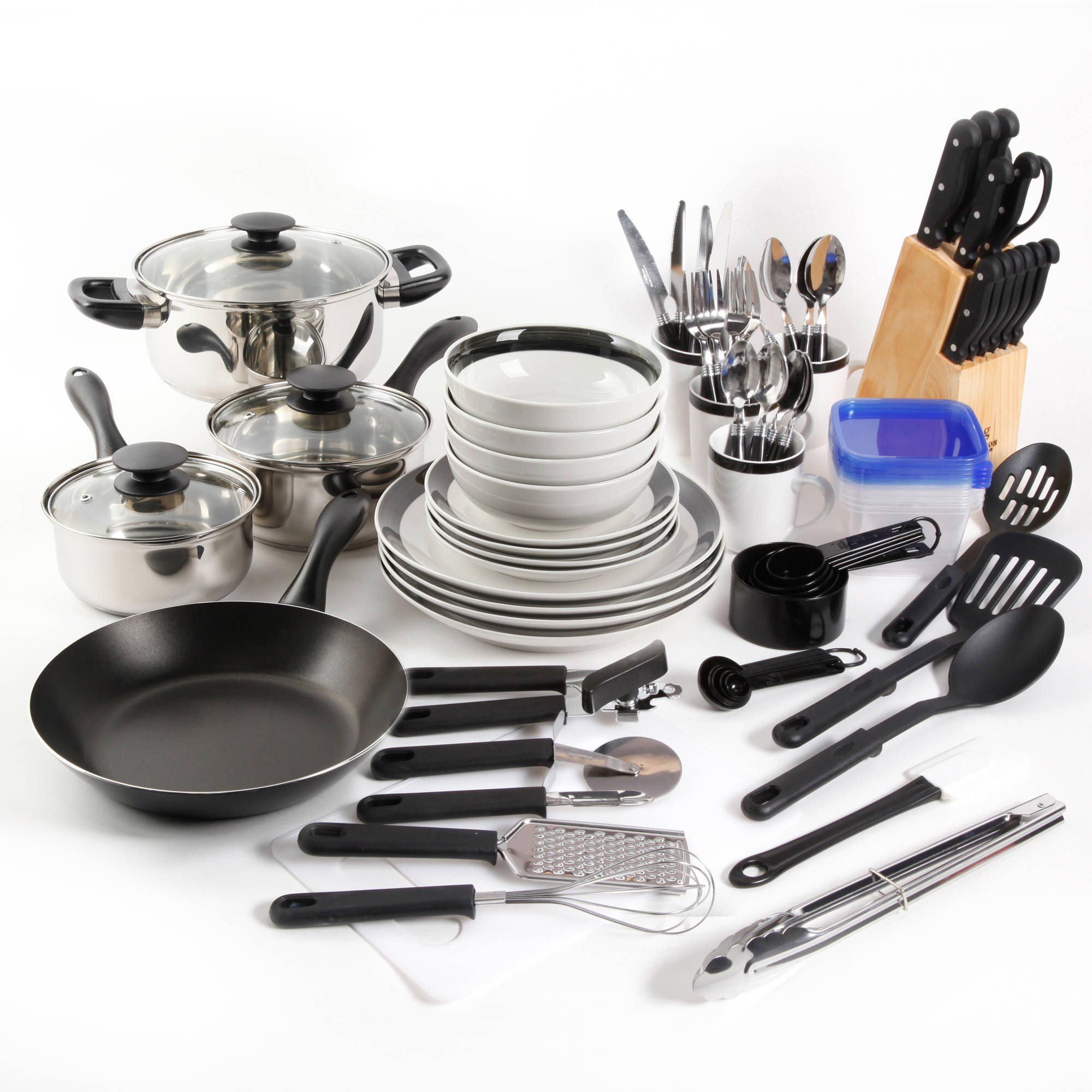 Gibson home essential total kitchen 83 piece combo set ebay for Kitchen set combo offer