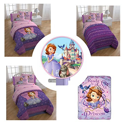 Sofia The First Throw And Pillow Set : Disney Sofia the First Princess 6pc Bedding Set with Comforter, S