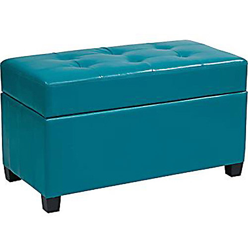 Image Is Loading Vinyl Rectangular Storage Ottoman Multiple Colors