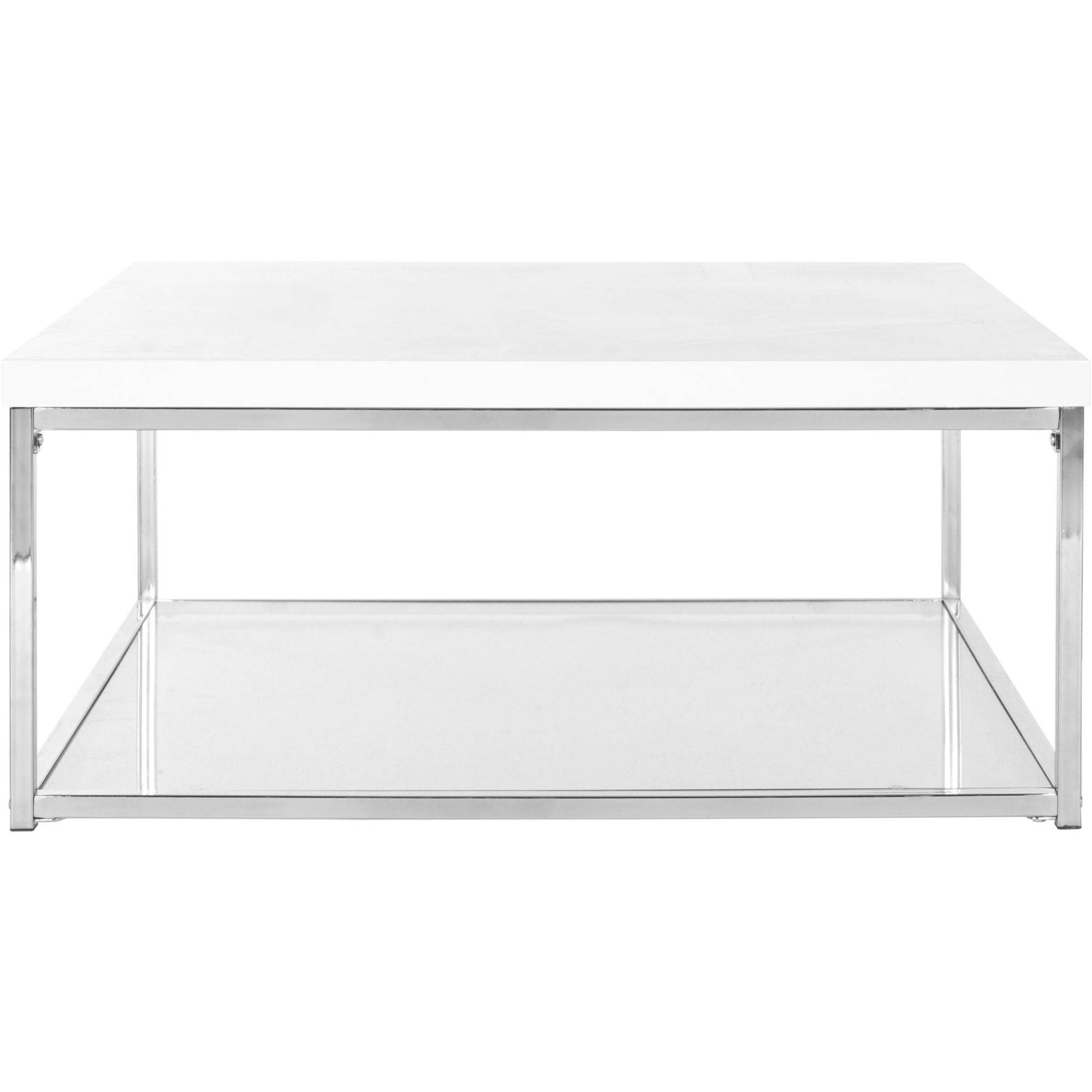 White And Chrome Coffee Table: Safavieh Malone Coffee Table, White And Chrome