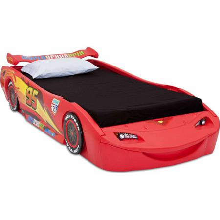 Disney - Cars Lightning McQueen Twin Bed with Lights | eBay