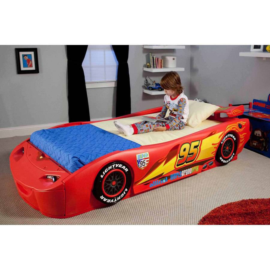 Delta Children Disney Cars Convertible Toddler to Twin Bed with ...