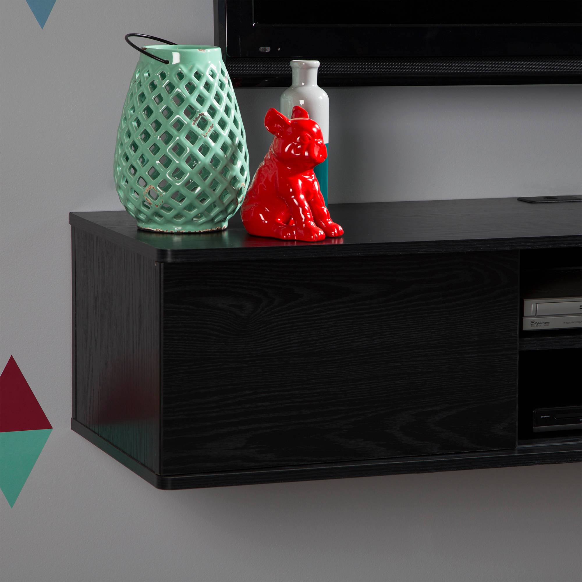 """Multiple Finishes South Shore Agora Wall-Mounted TV Stand For TVs up to 56/"""""""