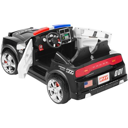 Kid Trax Dodge Pursuit Police Car 12-Volt Battery-Powered ...