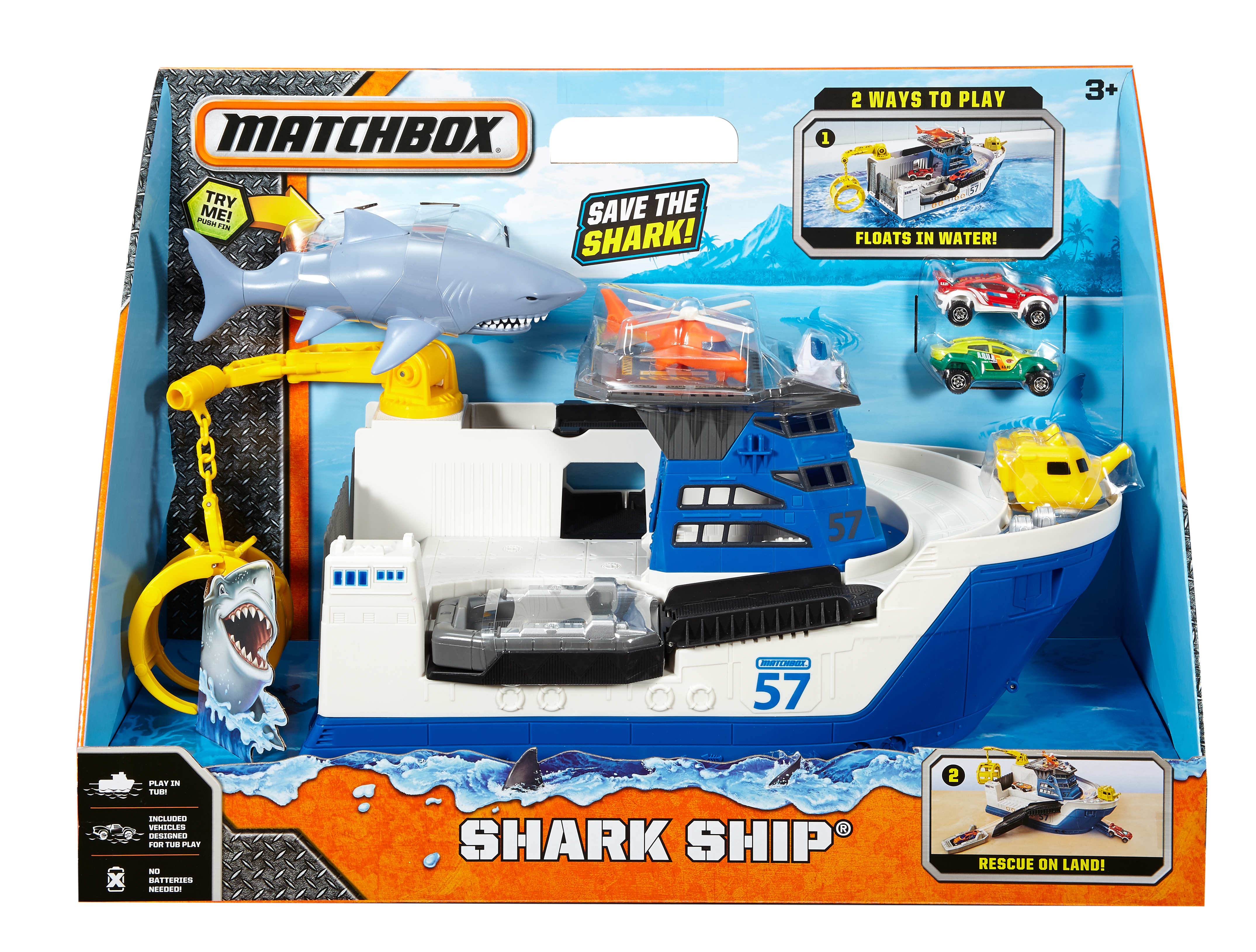 Shark Ship Toy : Matchbox car go commander shark ship ebay