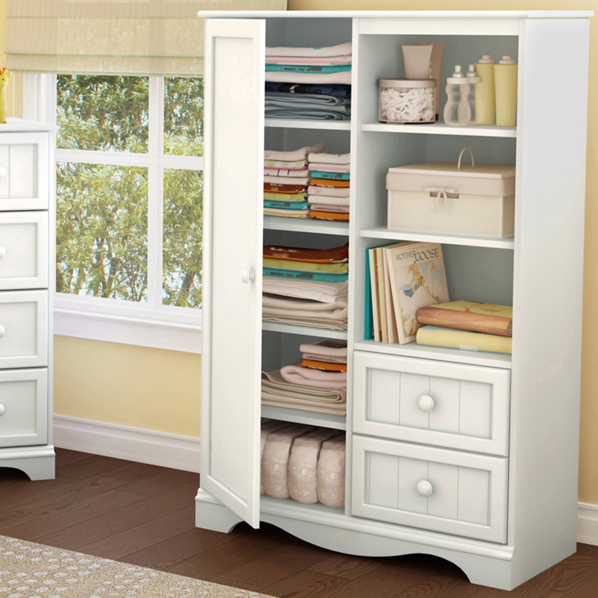 South Shore Savannah Armoire With Drawers Multiple Finishes
