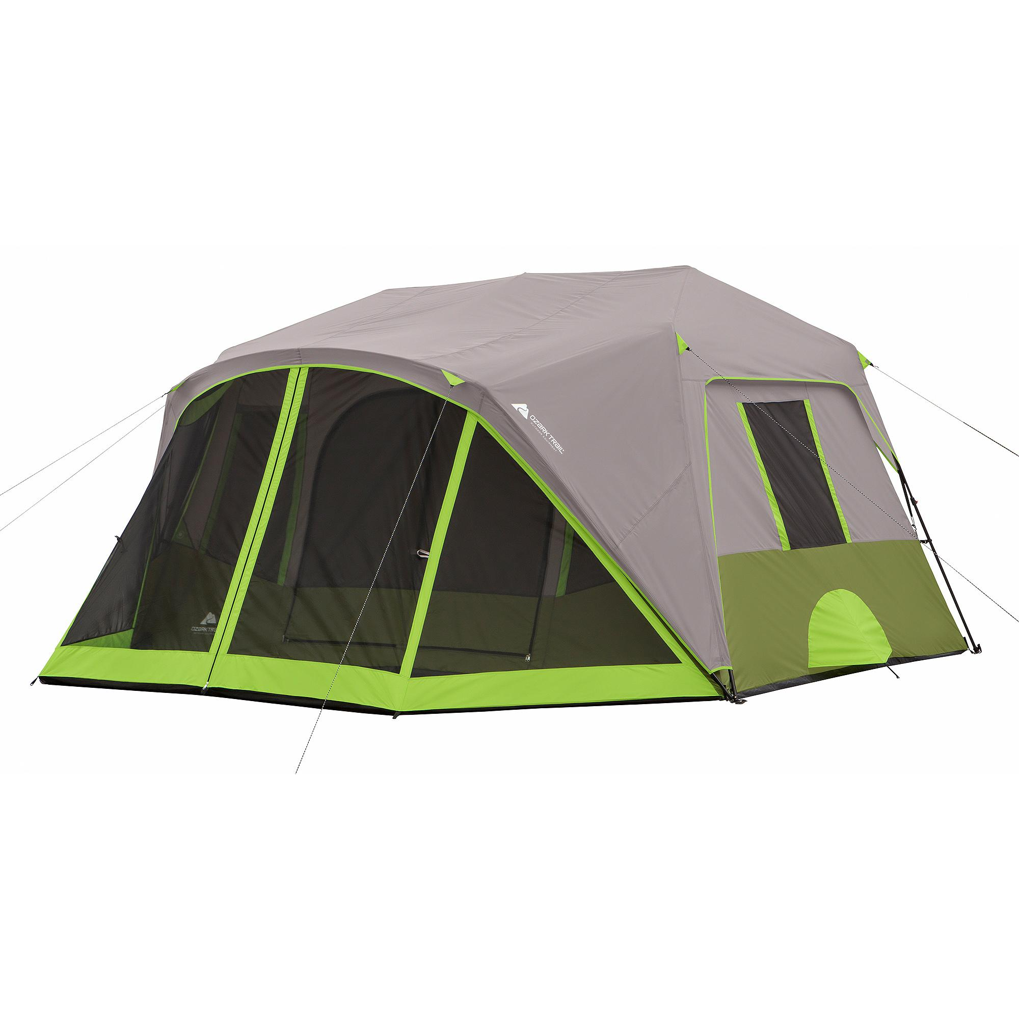Image is loading Ozark-Trail-9-Person-2-Room-Instant-Cabin-  sc 1 st  eBay & Ozark Trail 9 Person 2 Room Instant Cabin Tent with Screen Room ...