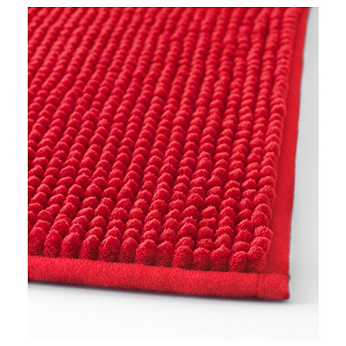Ikea Red Toftbo Microfiber Bath Shower Mat Rug Bathtub