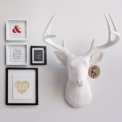 deer head by wall charmers white faux head mount bust With kitchen colors with white cabinets with resin animal heads wall art