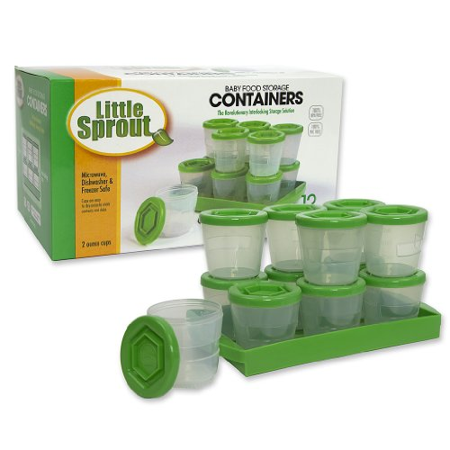 Stackable baby food containers