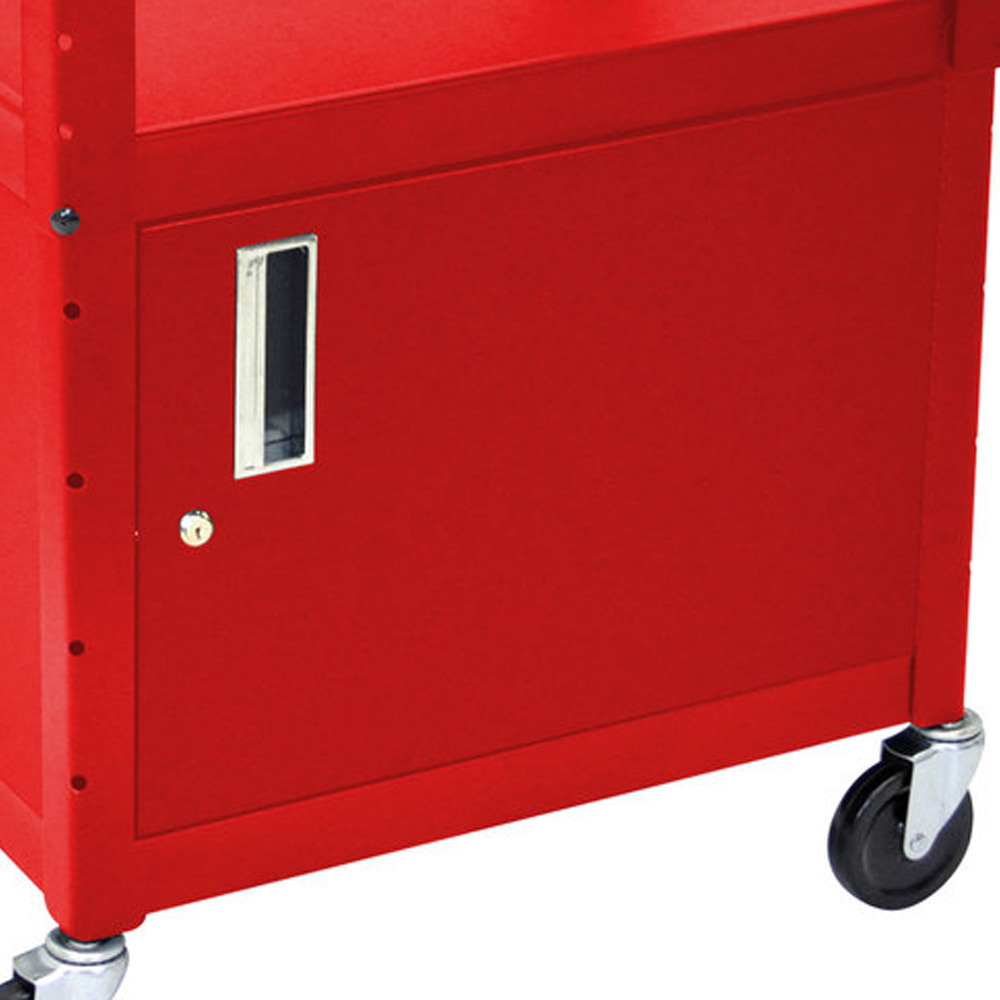 Luxor Kitchen Cabinets: Luxor Steel Adjustable Height A/V Cart With Cabinet