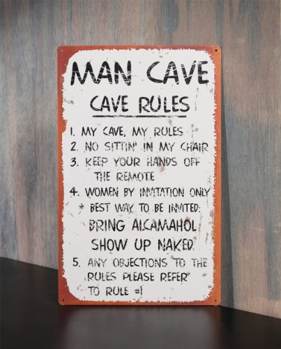 Man Cave Items Wholesale : Ohio wholesale man cave rules wall art from our water