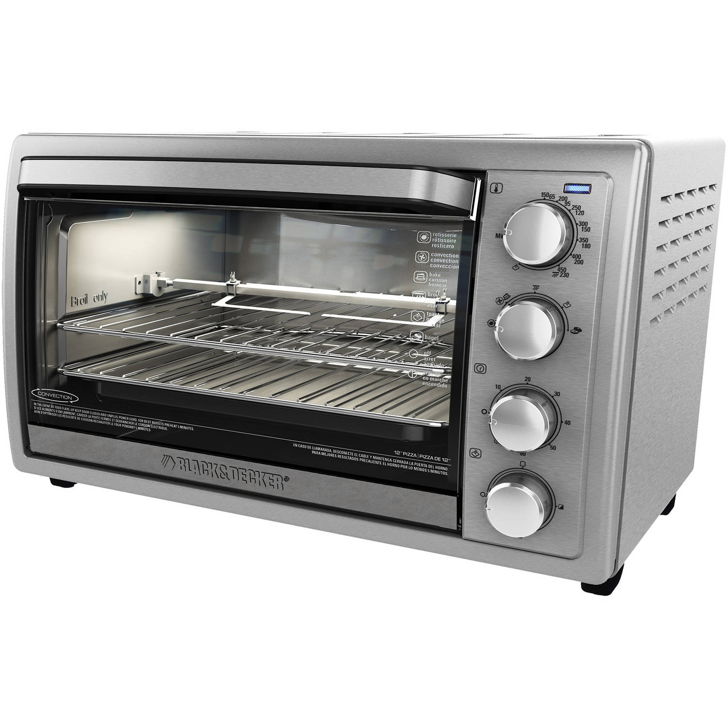 BLACKDECKER 9 Slice Rotisserie Convection Countertop Oven