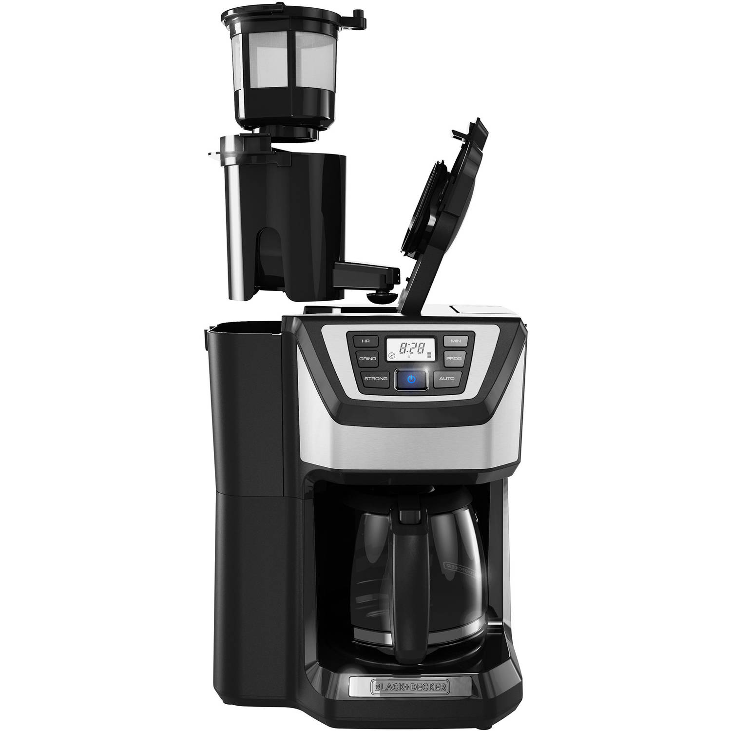 Coffee Maker With Grinder ~ Black decker mill and brew cup programmable coffee